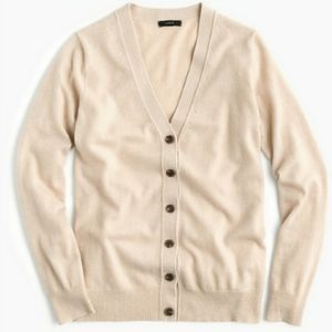 J Crew Button V Neck Cardigan Wool/Cashmere XS